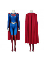 Supergirl Costume Cosplay Suit with Cloak Kara Zor-El Supergirl Season 5 3D Printed Ver.2