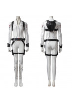Black Widow Costume Cosplay Suit Natasha Romanoff White Ver 1