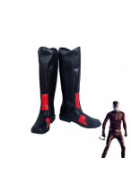 The Flash Red Runners Black Boots Cosplay Shoes