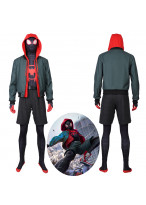Miles Morales Costume Cosplay Suit New Spider Man: Into the Spider Verse Jacket Outfit