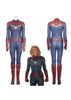 Captain Marvel Carol Danvers Cosplay Costume Jumpsuit Version 1