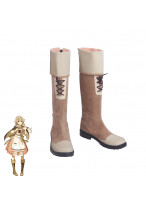 Fire Emblem Echoes Shadows of Valentia Villager Faye Cosplay Shoes Women Boots