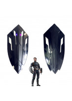 2 PCS Avengers Infinity War Captain America Stretchable Shield Weapon Cosplay Prop with Light Voice