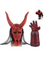 Hellboy Rise of the Blood Queen Anung Un Rama Mask Helmet Golves Halloween Cosplay Prop