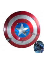 Avengers Endgame Captain America Steve Rogers Shield Cosplay Prop Aluminium Metal Battle Damage