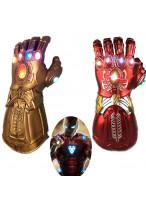 Avengers Endgame Iron Man Tony Stark Infinity Gauntlet Gloves Cosplay Prop with Light Version 1