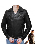 The Walking Dead Negan Black Leather Jacket Cosplay Costume