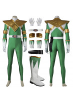Mighty Morphin Power Rangers Green Dragon Ranger Cosplay Costume