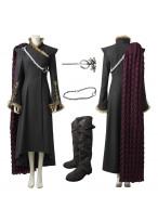 New Game of Thrones 7 Daenerys Targaryen Cosplay Costume with Cloak