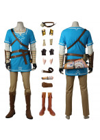 The Legend of Zelda Breath of the Wild Link Tunic Cosplay Costume