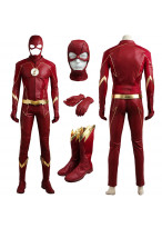 The Flash Season 4 Barry Allen Cosplay Costume Outfit Mask