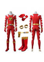 Power Rangers Dino Thunder Red Dino Ranger Cosplay Costume 3D Printed