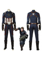 New Avengers Infinity War Captain America Steve Rogers Cosplay Costume