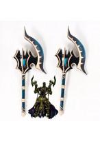 Fate Grand Order Berserker Darius III Handaxes Cosplay Prop