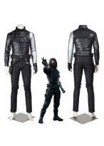 New Captain America Winter Soldier Bucky Barnes Cosplay Costume