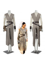 New Star Wars The Force Awakens Rey Cosplay Costume