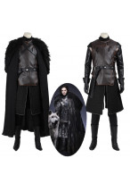 New Game of Thrones Jon Snow Cosplay Costume Top Grade