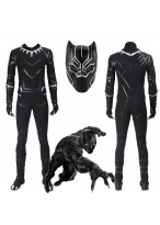 Top Grade Captain America Civil War T'Challa Black Panther Cosplay Costume