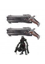 New Overwatch Reaper Double Guns Weapon Cosplay Props PVC