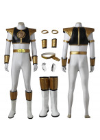 Mighty Morphin Power Rangers White Ranger Cosplay Costume