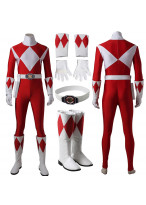 Mighty Morphin Power Rangers Red Ranger Cosplay Costume Custom Made
