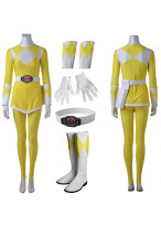 Yellow Mighty Morphin Power Rangers Tiger Ranger Cosplay Costume