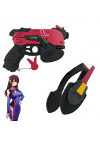 OW Overwatch D.VA DVA headset Light Gun Cosplay Prop