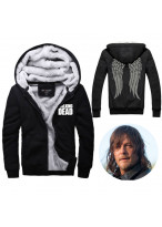 The Walking Dead Hoodie Zombie Daryl Dixon Wings Winter Fleece
