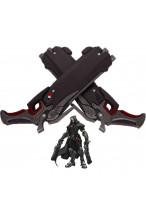 Overwatch Reaper Double Guns Mask Cosplay Halloween Props Pistol Weapon Gun