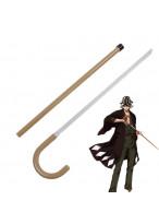 Bleach Kisuke Urahara Cane Crutch Sword Cosplay Prop
