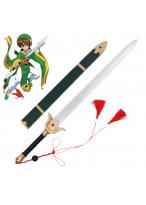 Cardcaptor Sakura LI SYAORAN Sword with Sheath PVC Cosplay Prop