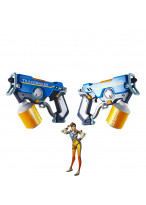 OW Overwatch Tracer Lena Oxton Graffiti Tracer Double Gun Cosplay Props