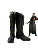 Thor The Dark World Loki Black Shoes Cosplay Boots