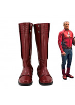 The Flash Season 2 Jay Garrick Superhero Red Shoes Cosplay Boots
