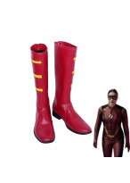 Justice League Jesse Quick Red Boots Cosplay Shoes