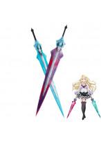 The Asterisk War Claudia Enfield Double Swords Cosplay Prop