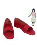 Naruto Hyuga Hinata Red Cosplay Shoes Customized Size