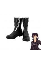SAO Sword Art Online Ⅱ Kirigaya Kazuto Kirito Black Boots Cosplay Shoes