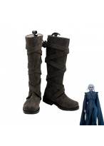 Game of Thrones Season 7 Daenerys Targaryen Dany Gray Boots Cosplay Shoes