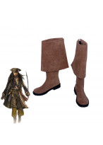 Pirates of the Caribbean Jack Sparrow Brown Boots Cosplay Shoes