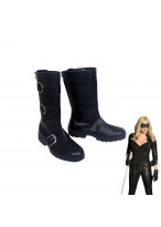 Green Arrow Black Canary Dinah Laurel Lance Black Boots Cosplay Shoes