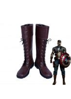 Captain America Steven Steve Rogers Cosplay Shoes Brown Boots Custom Made