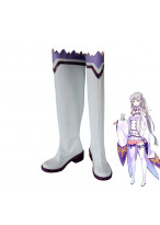 Re Zero Starting Life in Another World Emilia White Boots Cosplay Shoes Custom Made