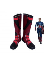 Marvel The Avengers Captain America Steve Rogers Red Shoes Cosplay Boots