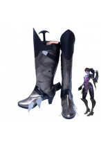 Overwatch Widowmaker Amelie Lacroix Silver Boots Cosplay Shoes