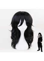 My Hero Academia Akademia Shouta Long Curly Black Cosplay Wig