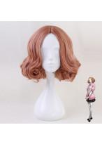 Persona 5 Haru Okumura Short Mixed Orange Pink Cosplay Wig