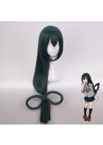 My Hero Academia Asui Tsuyu Long Straight Dark Green Cosplay Wig
