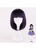 Sailor Moon Tomoe Hotaru Short Purple Black Cosplay Wig