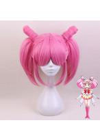 Sailor Moon ChibiUsa Short Rosy Mauve Cosplay Wig